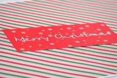красный цвет рождества карточки Стоковая Фотография