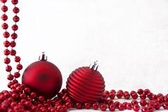 красный цвет рождества карточки стоковое изображение rf