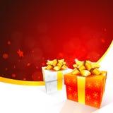 красный цвет рождества карточки Иллюстрация штока
