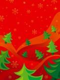 красный цвет рождества карточки Стоковая Фотография RF