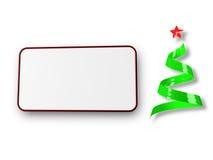 красный цвет рождества карточки Стоковое фото RF