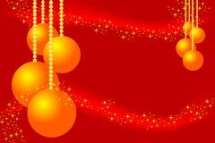 красный цвет рождества карточки иллюстрация вектора
