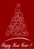красный цвет рождества карточки Стоковые Изображения RF