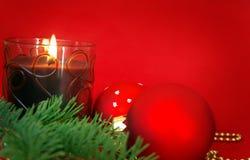 красный цвет рождества карточки Стоковые Изображения