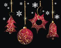 красный цвет рождества карточки beautifull Стоковые Фотографии RF