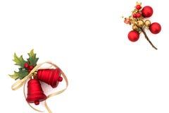 красный цвет рождества колоколов Стоковое Изображение
