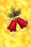 красный цвет рождества колоколов Стоковые Фотографии RF