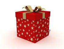 красный цвет рождества коробки Стоковые Фотографии RF