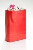 красный цвет рождества мешка Стоковая Фотография