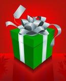 красный цвет рождества причудливый присутствующий иллюстрация вектора