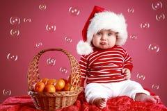 красный цвет рождества ребенка крышки смешной стоковые фотографии rf