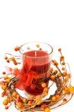 красный цвет рождества свечки праздничный Стоковые Изображения