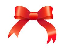 красный цвет рождества смычка Стоковое Изображение