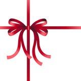красный цвет рождества смычка Стоковые Фото