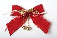 красный цвет рождества смычка Стоковые Изображения