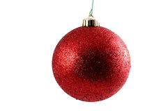 красный цвет рождества шарика Стоковое фото RF
