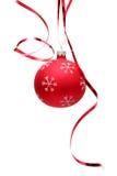 красный цвет рождества шарика Стоковые Изображения