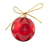 красный цвет рождества шарика Стоковая Фотография