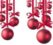 красный цвет рождества шарика Стоковые Изображения RF