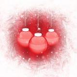 красный цвет рождества шарика иллюстрация штока