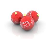 красный цвет рождества шариков Стоковые Фотографии RF