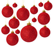 красный цвет рождества шариков Стоковая Фотография