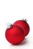 красный цвет рождества шариков Стоковые Изображения RF