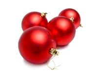 красный цвет рождества шариков Стоковое Фото