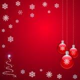 красный цвет рождества иллюстрация вектора