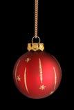 красный цвет рождества bauble Стоковая Фотография RF