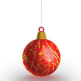 красный цвет рождества bauble Стоковые Изображения RF