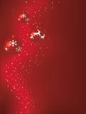 красный цвет рождества baubles Стоковые Фотографии RF