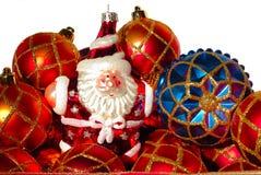 красный цвет рождества baubles Стоковые Изображения