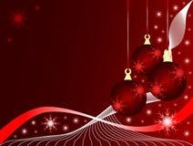 красный цвет рождества baubles иллюстрация штока