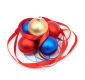 красный цвет рождества blubs голубой стоковые изображения rf