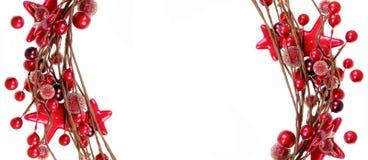 красный цвет рождества граници Стоковые Фотографии RF