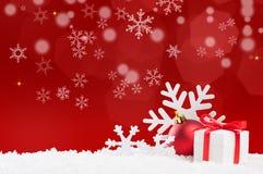 красный цвет рождества знамени Стоковые Изображения