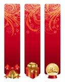 красный цвет рождества знамен Стоковые Изображения