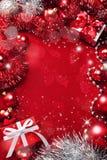 красный цвет рождества предпосылки Стоковая Фотография
