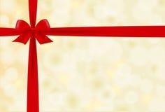 красный цвет рождества смычка предпосылки Стоковые Изображения RF