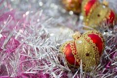 красный цвет рождества шариков Стоковое фото RF