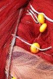 красный цвет рыболовной сети Стоковое Изображение