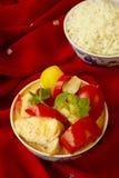 красный цвет рыб карри Стоковые Изображения