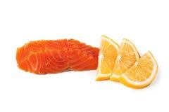 красный цвет рыб свежий Семги Стоковое Изображение RF