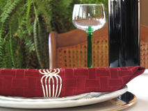 красный цвет салфетки стоковое фото rf