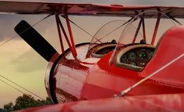 красный цвет самолета Стоковые Фотографии RF