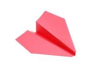 красный цвет самолета бумажный Стоковые Изображения RF