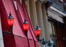 красный цвет света заречья amsterdam Стоковое Изображение RF