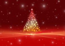 красный цвет света рождества предпосылки волшебный Стоковая Фотография