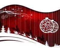 красный цвет света рождества предпосылки волшебный Стоковое Изображение